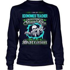 ECONOMICS TEACHER TSHIRT UNISEX LONGSLEEVE