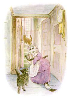 The Tale of Tom Kitten by Beatrix Potter - Bing Images Beatrix Potter Illustrations, Book Illustrations, Rabbit Tale, Beatrice Potter, 3 Gif, Peter Rabbit And Friends, Benjamin Bunny, Little Kittens, Cat Art