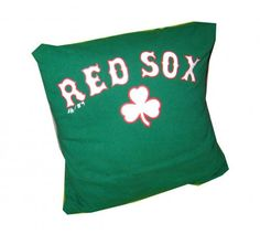 Boston Red Sox green recycled tshirt pillow throw by upcycled2, $25.00