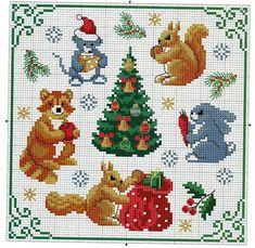 View album on Yandex. 123 Cross Stitch, Cross Stitch Borders, Cross Stitch Animals, Cross Stitch Charts, Cross Stitching, Cross Stitch Embroidery, Cross Stitch Patterns, Christmas Rugs, Christmas Border