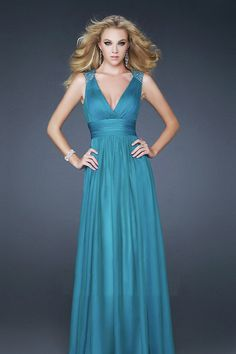 Shop 2013 Prom  Sheath Column Floor Length Sleeveless V Neck Chiff Beading Sequins Online affordable for each occasion. Latest design party dresses and gowns on sale for fashion women and girls.