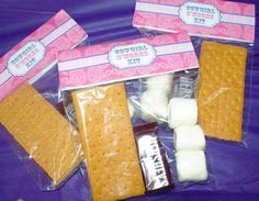 Glamour Cowgirl Birthday Party S'mores favors