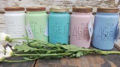 Rustic Shabby Chic Distressed Agee Jars