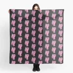 """""""Fight Like A Girl Breast Cancer Awareness"""" Scarf by HavenDesign 