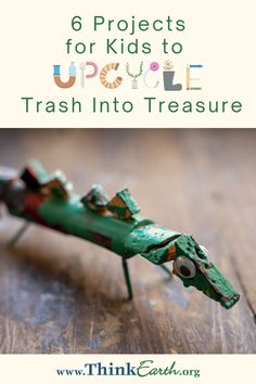Create an Upcycling Bin and fill it with items like cardboard tubes and boxes, cleaned plastic food containers, all kinds of paper, packing materials, etc. Kids can use basic supplies like scissors, tape, glue, and markers to turn these materials into art, toys, games, or anything they can imagine! And many of these projects also get kids hands-on using science concepts and skills! Science Activities For Kids, Science Lessons, Learning Activities, Art Lessons, Projects For Kids, Art Projects, Cardboard Tubes, Environmental Education, Kids Hands