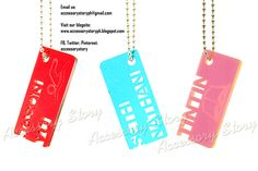 Customized acrylic keychains. Completed as of June 30, 2012.