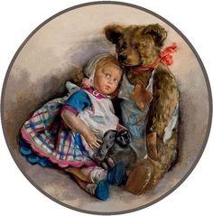 Фотография.  with a teddy bear
