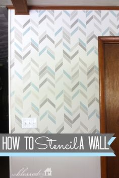 How To Stencil A Wall- love this stencil, must get it. Great tutorial from my blessed life