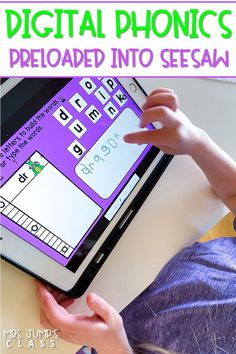 36 weeks of phonics practice for kindergarten and first grade. We've pre-loaded these digital phonics activities into Seesaw for easy use! PowerPoint for Google Classroom also included.