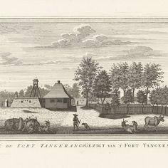 Gezicht op het fort te Tangerang, Jacob van der Schley, 1747 - 1779 - Rijksmuseum