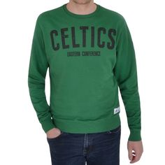 adidas Performance Mens NBA Boston Celtics Basketball Crew Neck Sweater Jumper