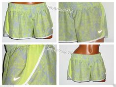 WOMEN'S SHORTS NIKE RELAY RUNNING TEMPO INNER BRIEF PANTY SIZE XL YELLOW DRI-FIT #Nike #Athletic