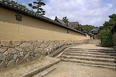 法隆寺の版築 Tadelakt, Concrete Structure, Rammed Earth, Earth Homes, Japanese Architecture, Natural Stones, Fence, Facade, Brick