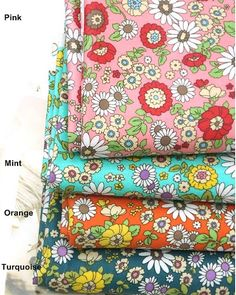 Laminated Cotton Fabric in 4 Colors By The Yard by BonitaFabric, $17.10