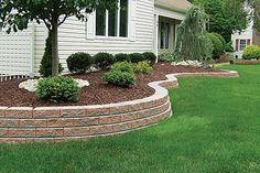 Cement Block Garden Wall | ... Ideas - Save the Back - Gardeners Rule!! - Garden Ideas On A Budget