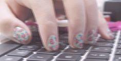 my rose vintage nail art (edited)