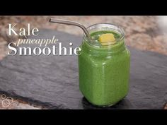 Healthy Smoothies Well Plated by Erin Kale Pineapple Healthy Breakfast Smoothie - A delicious and creamy green kale pineapple smoothie with banana and Greek yogurt. Filled with healthy protein, nutrients, and will keep you full for hours! Energy Smoothies, Fruit Smoothies, Healthy Smoothies, Healthy Drinks, Healthy Tips, Energy Drinks, Healthy Recipes, Breakfast Smoothie Recipes, Best Smoothie Recipes