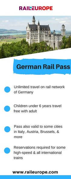 The German Rail Pass is one of the easiest & most comfortable ways to see Germany! #germany