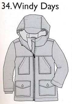 windy day jacket with hood Clothing Patterns, Sewing Patterns, Sewing For Kids, Couture, Boy Outfits, Hooded Jacket, Boys, Sweaters, Jackets