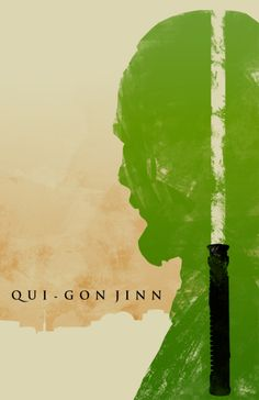 """Qui-Gon Jinn"" Star Wars: Episode I - The Phantom Menace Artwork by Travis English"