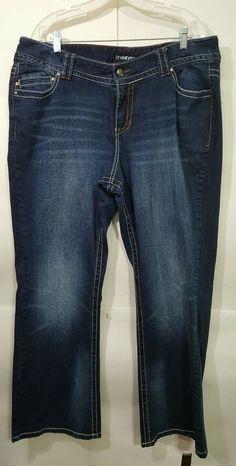 157fd6329 Lane Bryant Plus size 20 Petite Blue Jeans dark wash boot cut cotton blend  EUC