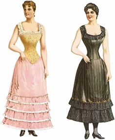 Love Dover's Samples and I love paper dolls with old fashioned costumes like these.