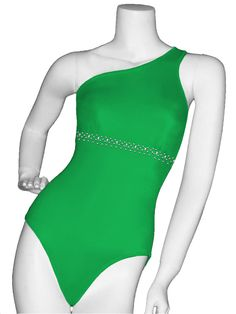 Clearly you can see why the Annie Collection from Lady M Swim wear SST-RS is the one of their best seller. Made to fit to perfection with the one shoulder neckline and padded cups in the bust. Under the bust are rhinestones beading to add more appeal to this classic swimsuit.  The padded helps to give shape while you strut your stuff on stage. Get the suit in whatever color you want. Order today for your big walk across stage.