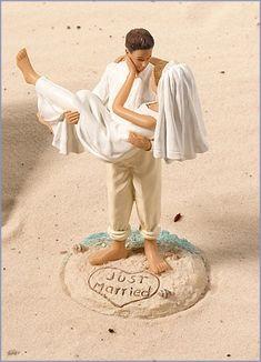 Beach Wedding Cake Topper OR a nice wedding photo idea!