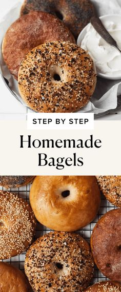 Homemade Bagels (Step by Step!) - Broma Bakery Scones, Granola, New York Bagel, Broma Bakery, Homemade Bagels, Everything Bagel, Recipe Of The Day, Food And Drink, Recipes