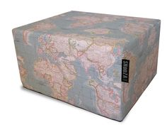Limited edition SNooZA - Hertex World map aqua. Find this in our limited edition section. Decorative Boxes, Aqua, Delivery, Map, Home Decor, Water, Decoration Home, Room Decor, Location Map