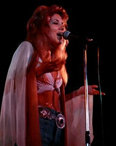 Stevie Nicks performing in early 1975, right after she and LB joined Fleetwood Mac and before she came up with her mystical trademark wardrobe.