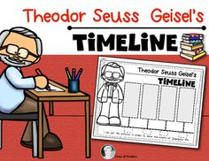 Want all my timelines? Click here to get all 10 of them!MEGA Bundle Timelines for Social Studies You are receiving a simple timeline for events in Theodor Seuss Geisel's life.The timeline depicts/tells the following:He was born in 1904He was a boy who drew pictures of animalsHe made training movies in the ArmyHe wrote and illustrated a book about a silly cat.If you need other non fiction Theodor Seuss Geisel resources check my store:Dr.
