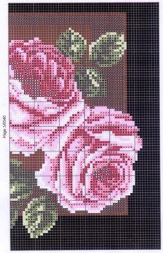 Podłużne kwiatowe 26 (3/5) róże