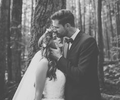 dreamy fairytale forest wedding shoot / jennifer picard photography / lush weddings design & decor  save the date beauty ( hair & makeup )  #fairytalewedding #fineartwedding #fineart #bridal #beauty #groom #vancouverweddingphotographer #weddingdress #forestwedding #blackandwhite #flowercrown