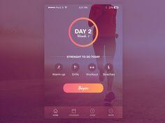 "via Muzli. ""Fitness/Health App—Design Inspiration"" is published by Muzli in Muzli - Design Inspiration. Web Design, Ios App Design, Mobile App Design, Health App, Health Fitness, Fitness App, App Design Inspiration, Inspiration Fitness, Mobile App Ui"