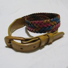 Tony Lama Belt Woman 28 Braided Multi-Color Leather Pink Turquoise Amber Vintage http://www.ebay.com/itm/Tony-Lama-Belt-Woman-28-Braided-Multi-Color-Leather-Pink-Turquoise-Amber-Vintage-/191731024146 #tomylama