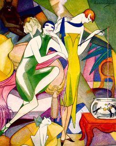 Jeanne Mammen - 1920's - Metropolis Berlin - Weimar Women - Art Deco - http://www.advocate.com/arts-entertainment/artist-spotlight/2012/07/19/artist-spotlight-jeanne-mammen#slide-1