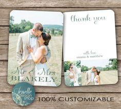 Rustic Wedding Thank You Postcard - printable card Colored Envelopes, White Envelopes, Printable Cards, Printables, Wedding Thank You Postcards, Photo Thank You Cards, Anniversary Parties, Anniversary Ideas, One And Other