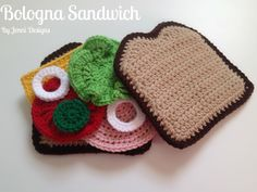 Free Crochet Pattern: Bologna Sandwich Play Set