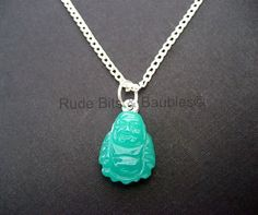 Simple Buddha Necklace by RudeBitsJewelry on Etsy