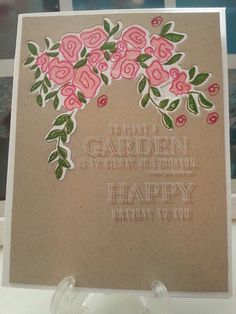Clear and simple 3 online card classes papertrey ink garden grace inlay and double inking
