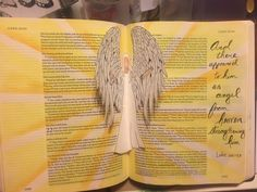 angel pop up Bible journaling paintingwithbev