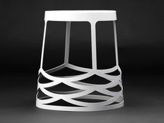 Our La Scala stool in white is the perfect addition to any indoor or outdoor setting. Stackable, weather proof and finished to the highest interior standard.   Made from durable zincalume powder coated in metallic grey, white, charcoal grey or yellow.  Design: Kain Lucas 2012