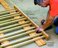diy porch railing | ... Railing - Multi Level Decks - How to Design & Build a Deck. DIY Advice