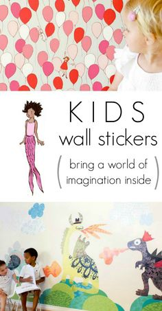 Love these beautiful and whimsical wall stickers by Pop & Lolli and Sarah Jane Studios! Check out all the fun new stickers and enter the giveaway...