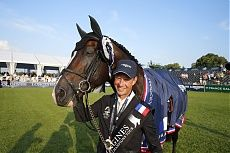 Chantilly 2014 Gallery - LONGINES GLOBAL CHAMPIONS TOUR - Grand Prix winning combination Bengtsson and Casall ASK