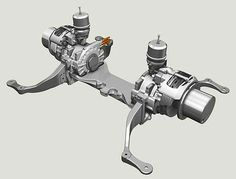 ZF's low-floor city bus electric drive axle is designed for use in serial hybrid drive systems