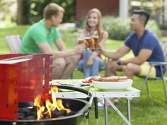 Wanna know what's hot? Grilling safety: That's totally HOT. Learn how to be cookout cool when the heat is ON. Weather Activities, Summer Fun, Barbecue, Grilling, Safety, Friends, Hot, Security Guard, Barbacoa