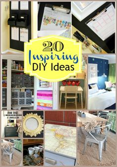 20 Fantastic DIY Projects for the Home - Organizing, Decorating and More