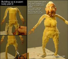 the Scarlet Letters: research: stop-motion puppet construction    Liquid latex over foam.